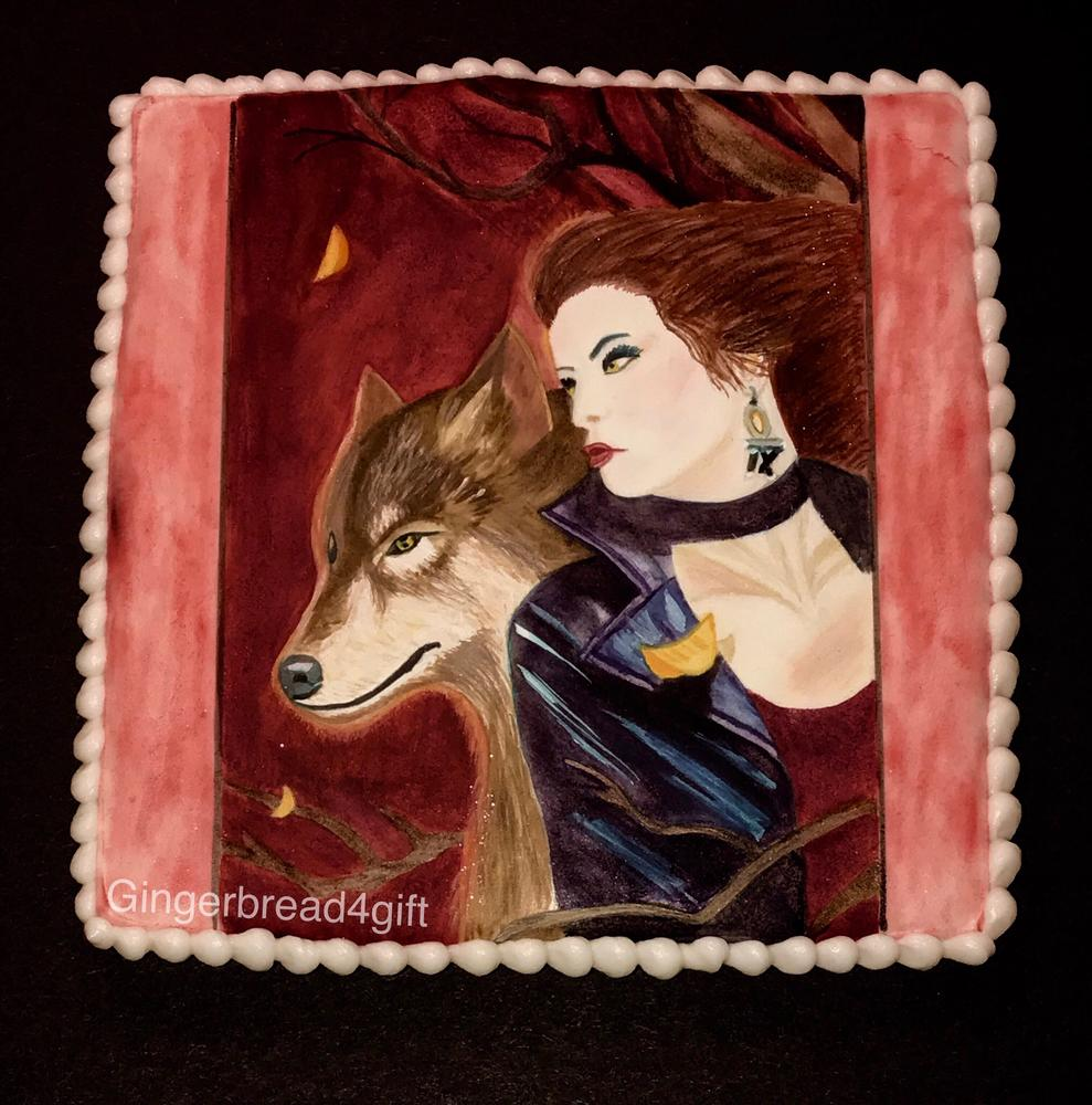 Fantasy Woman with Wolf