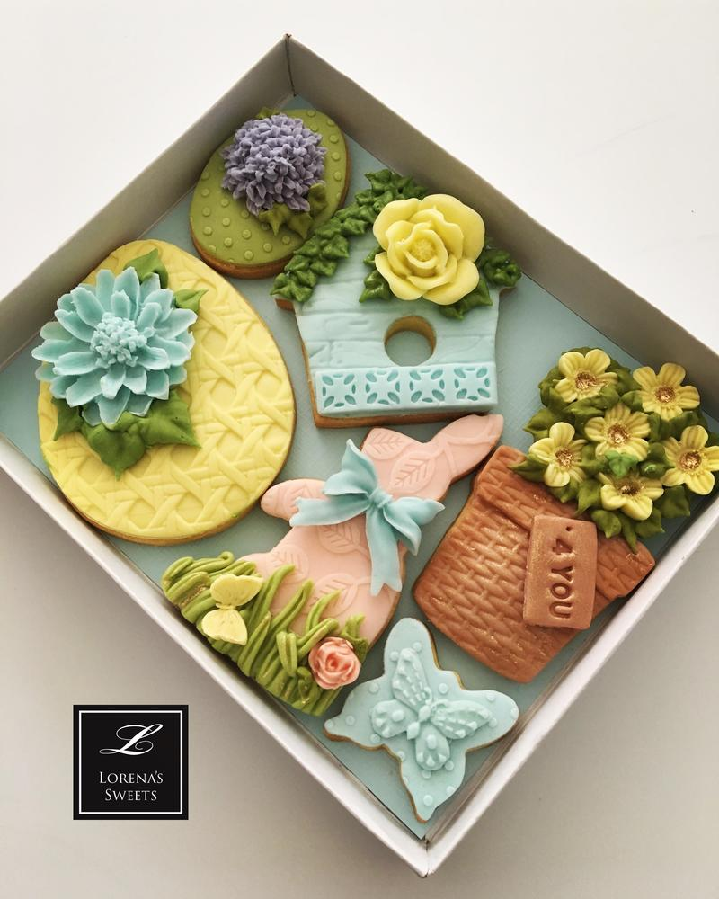 Lorena Rodríguez . Easter cookies . Spring cookies