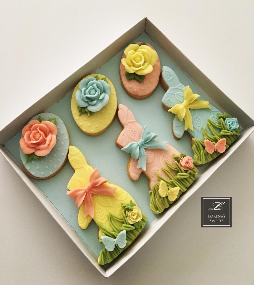 Lorena Rodríguez. Easter cookies. Spring cookies