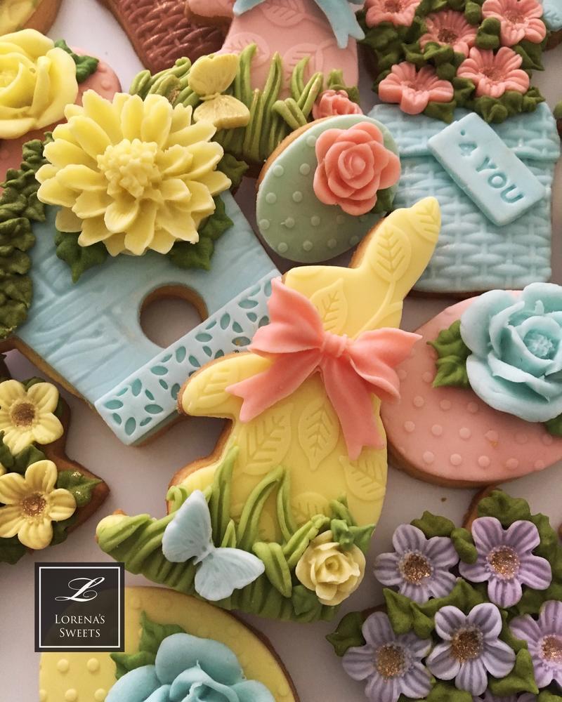 Lorena Rodriguez. Easter cookies. Spring cookies