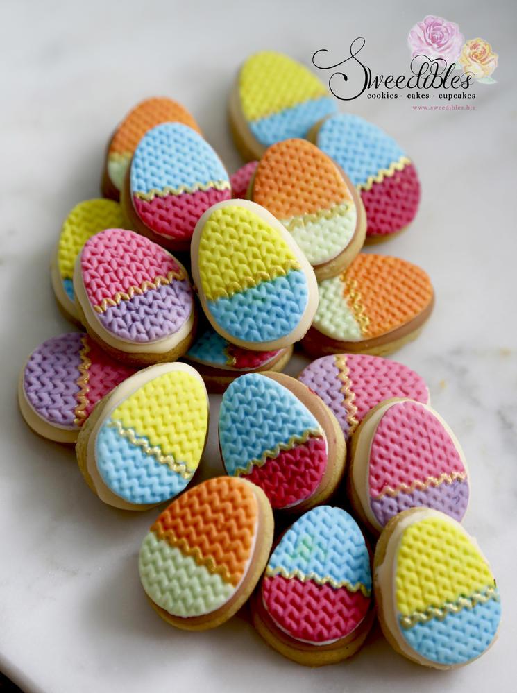 Mini Easter Egg Cookies