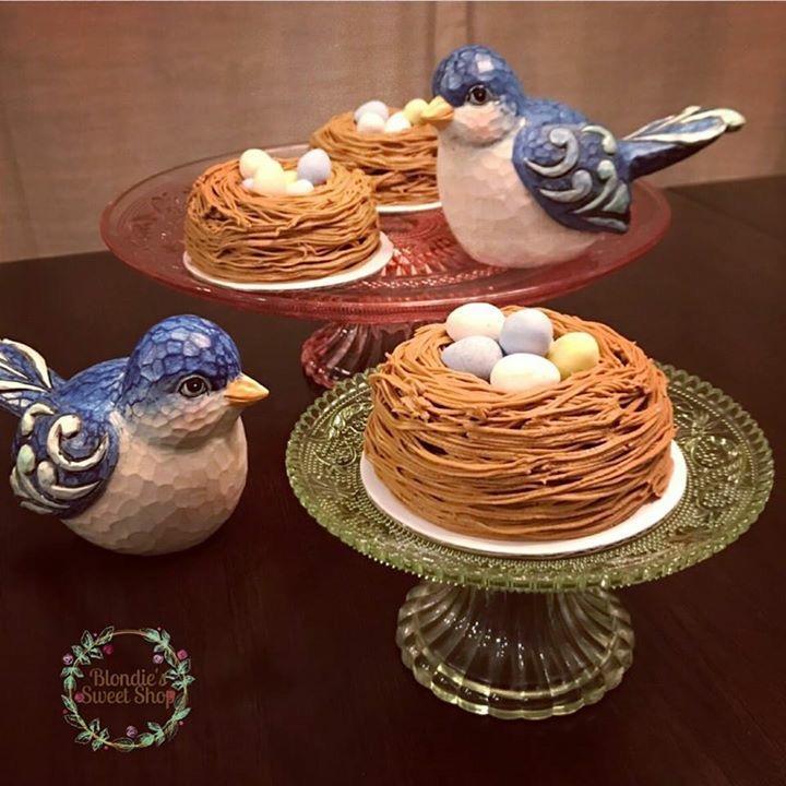 Bird Nest Bundt Cakes
