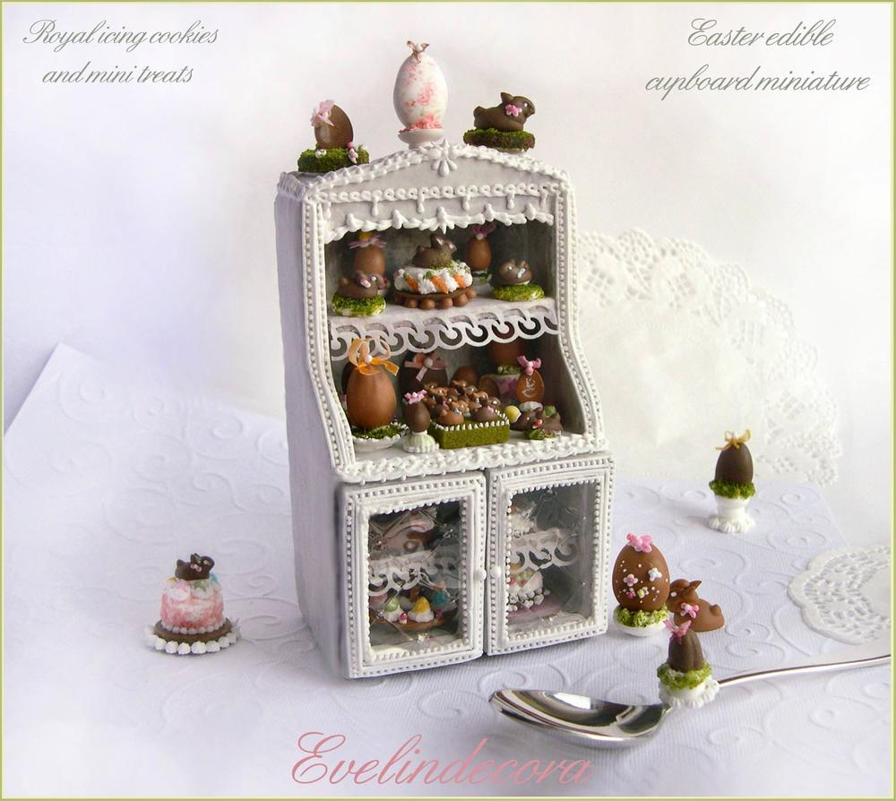 Miniature Food Cookie: Easter Cupboard
