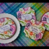 "How to Make Julia's ""Birthday Wishes"" Prettier Plaques Stenciled Cookies"