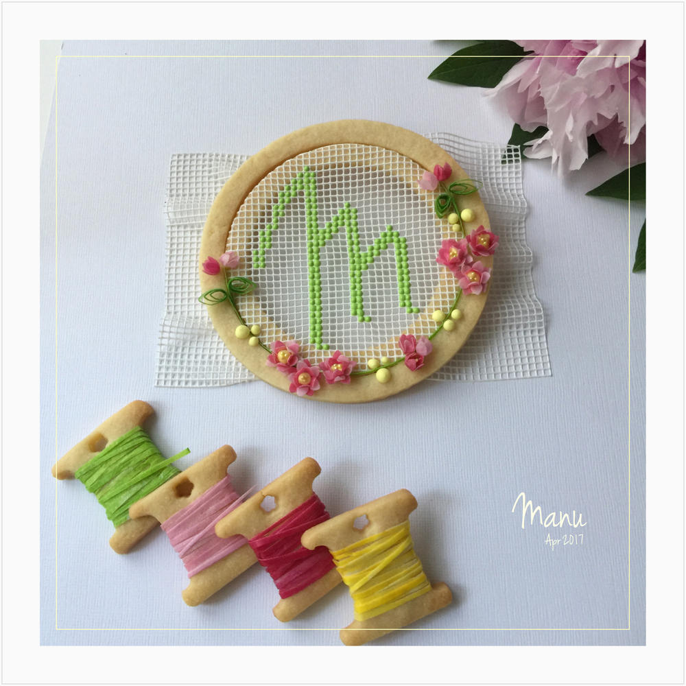 One More Embroidery Hoop Cookie | Manu