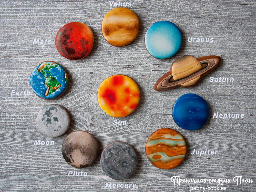Cookie Solar system by Peony cookies | Cookie Connection