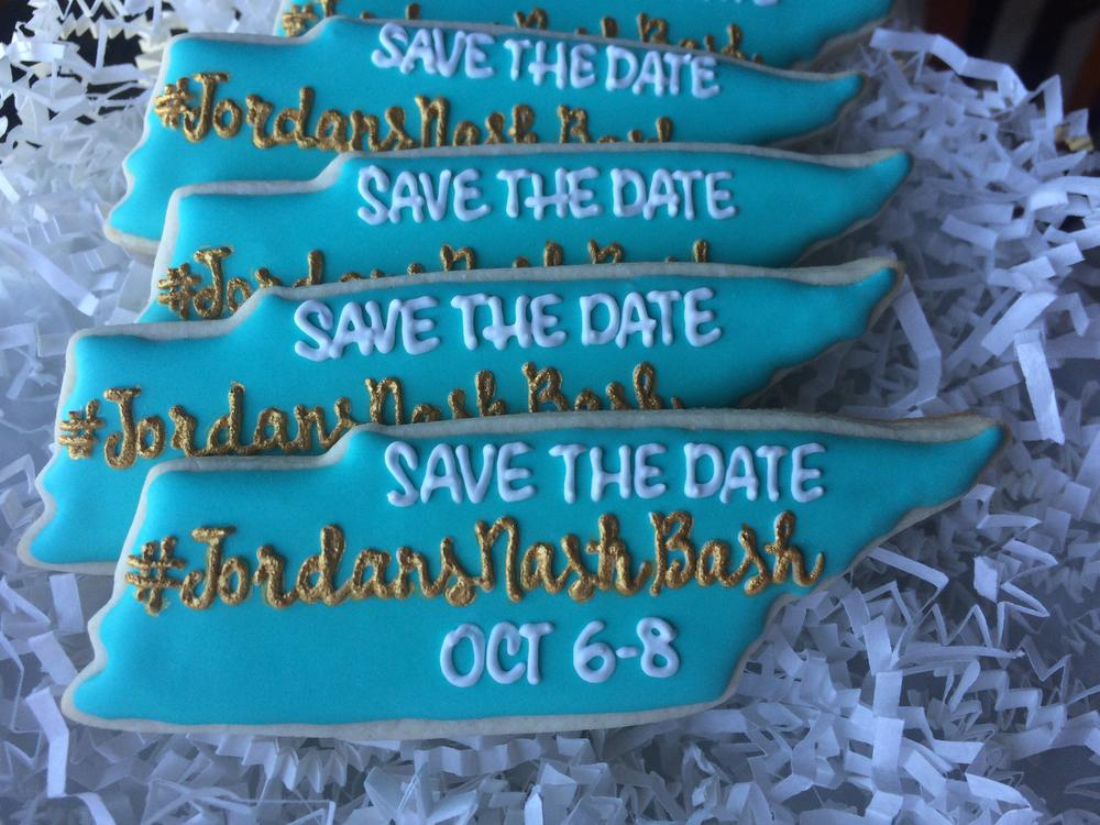 Bachelorette Party Save the Date Cookies