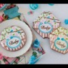"""How to Make My """"Baby"""" Prettier Plaques Stenciled Cookie"""