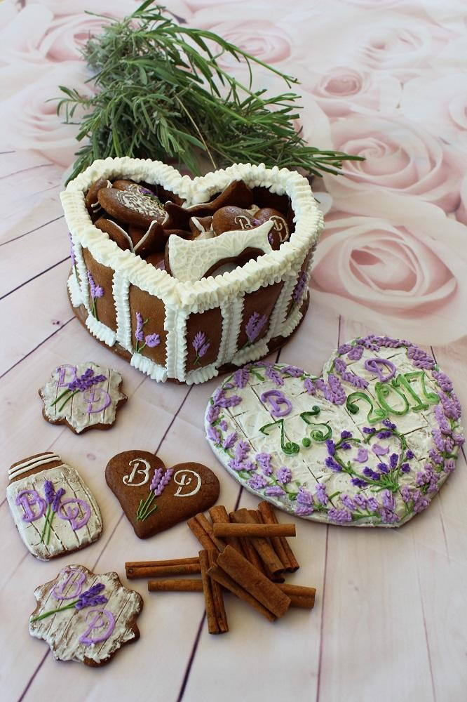 Lavender Cookie Heart Box