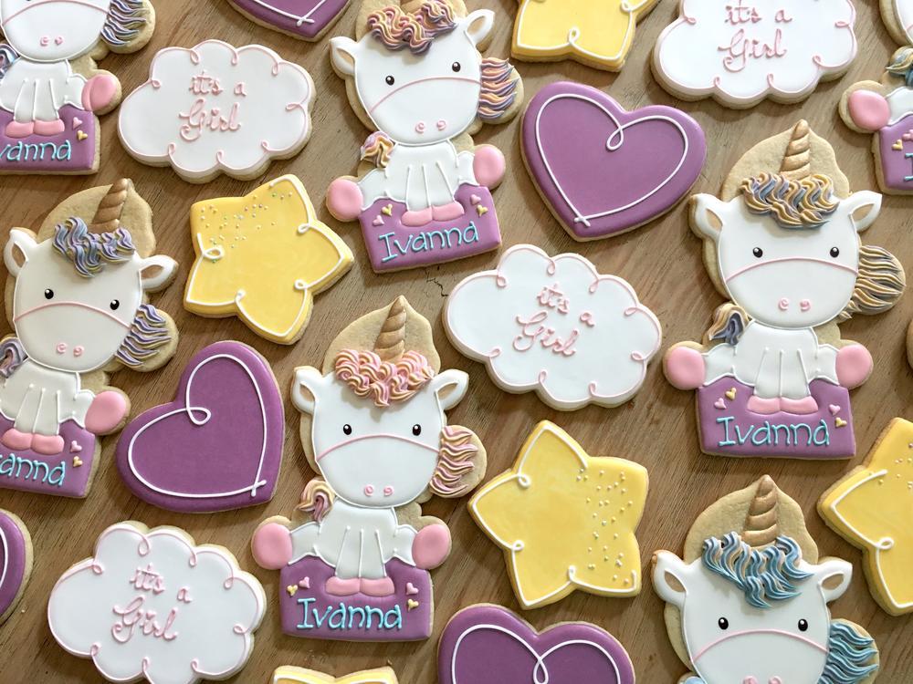 Baby Shower Unicorn Cookies