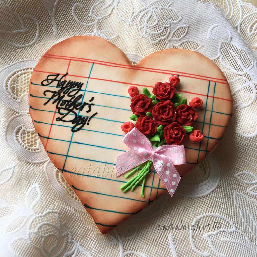 Vintage Notepad Heart for Mother's Day