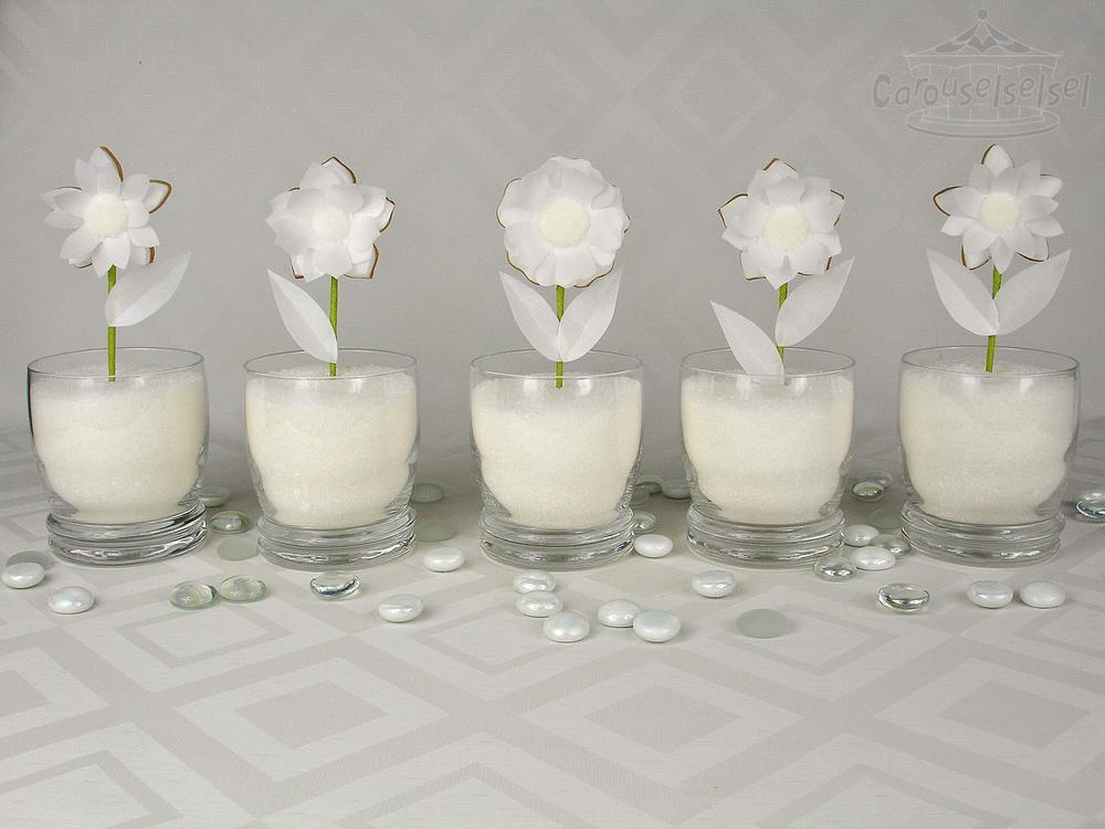 White Wafer Flowers