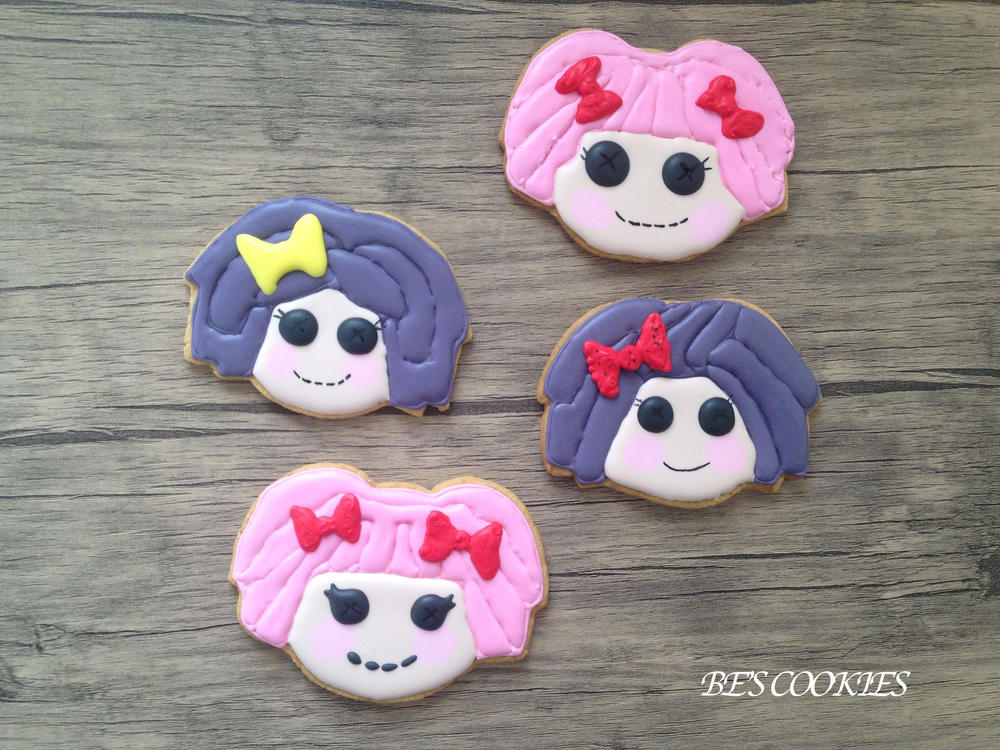 Lalaloopsy cookies with royal icing