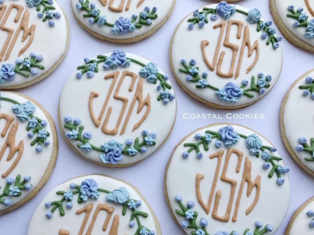 Elegant Monogram Cookies