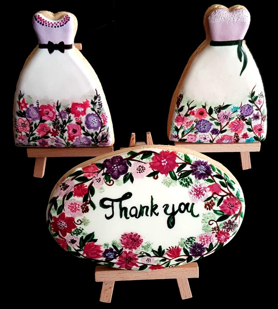 Vanilla cookies,  ''Thank you''