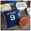 Chargers Birthday Cookies