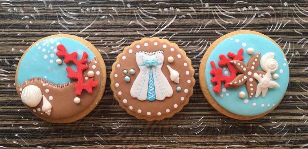Nautical bachelorette cookies