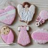 Christening Cookie Set by Peony cookies