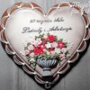 Heart with Flowers  - Wedding Anniversary