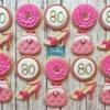 80th Birthday Cookies