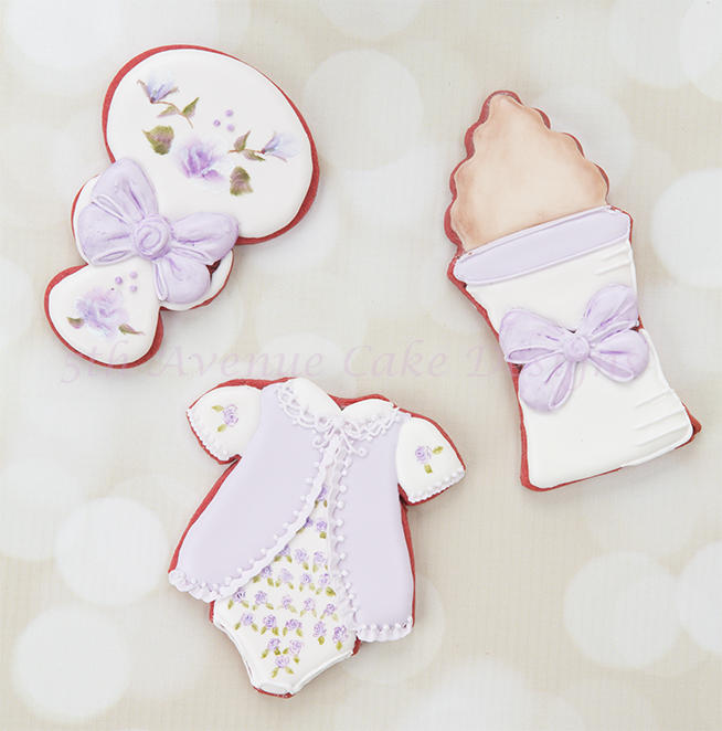 Vintage Hand Painted Baby Shower Cookies