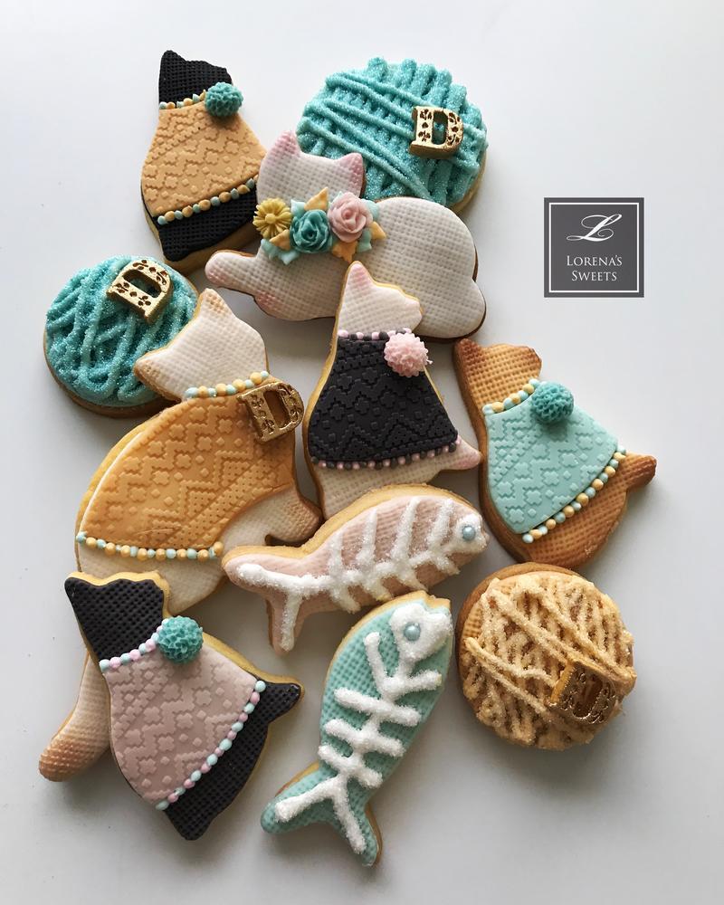 Lorena Rodríguez. Cat cookies.