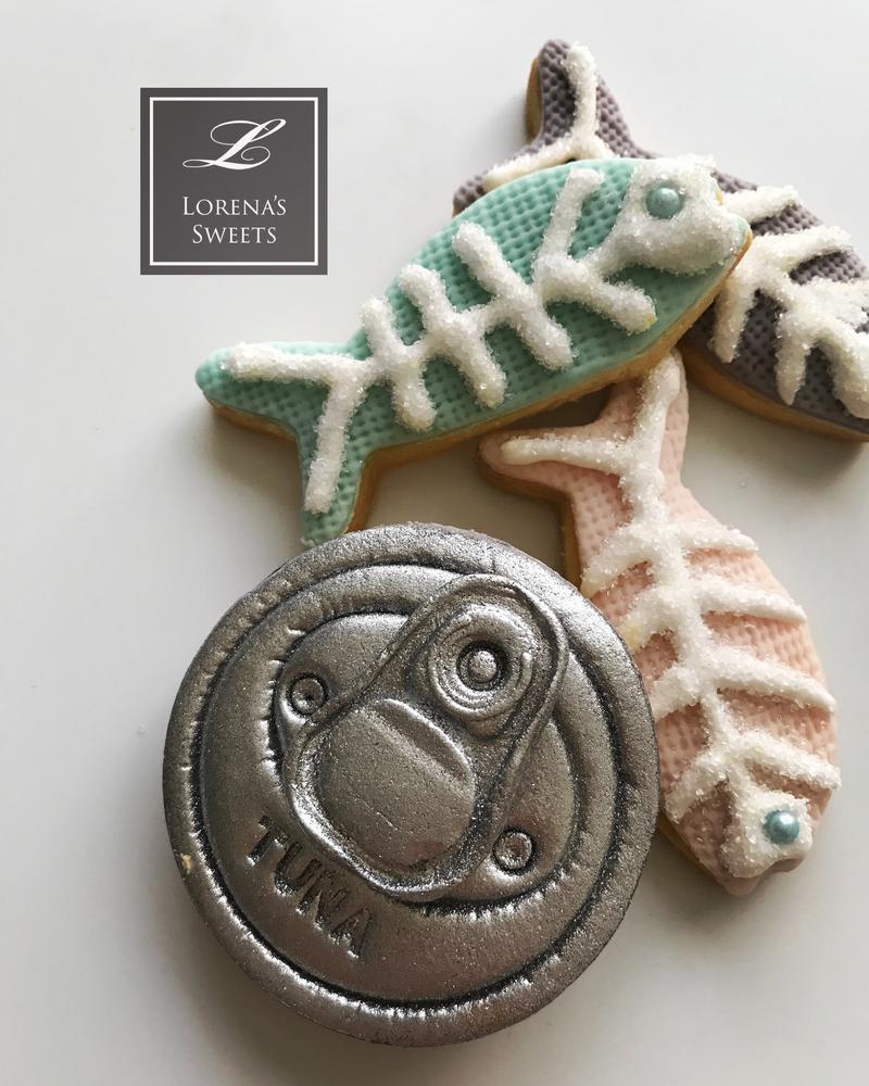 Lorena Rodriguez. Tuna cookies. Fish cookies