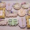 Enchanted Garden bridal shower cookies