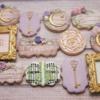 Enchanted Garden bridal shower cookies