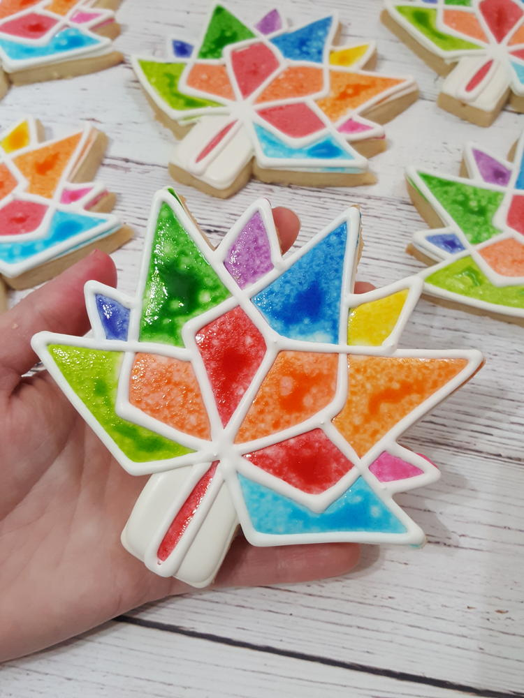 Distressed Ink Rainbow Leaves for Canada's 150th Birthday by Sweethart Baking Experiment