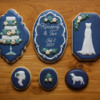 Navy Wedding Cookies