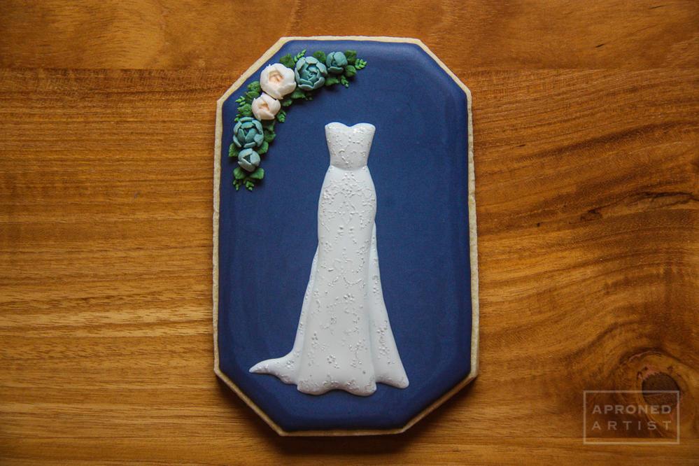 Wedding dress closeup