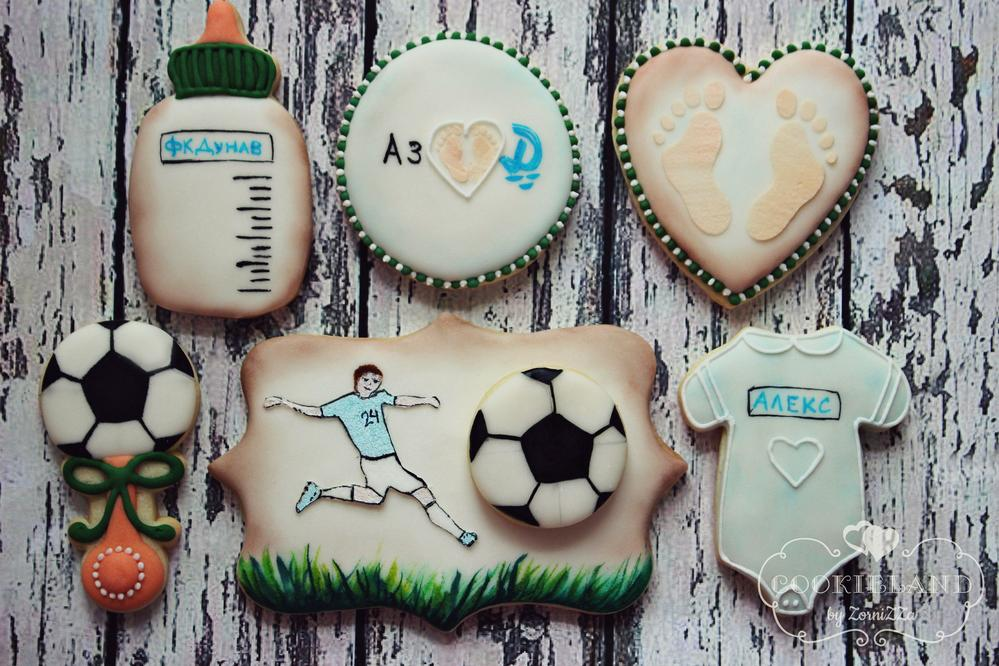 Soccer baby cookies