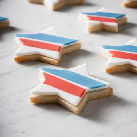 Stars + Stripes Watercolor Cookies