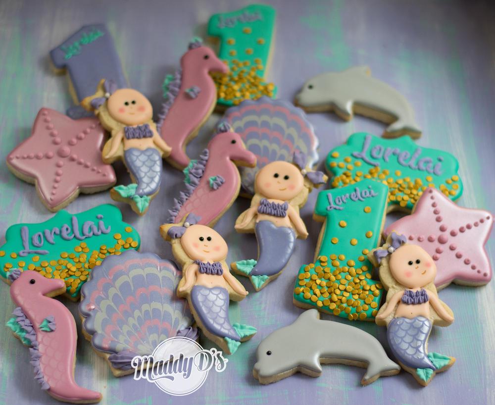 Mermaid Babies in Cool Colors