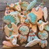 Tribal theme baby shower platter