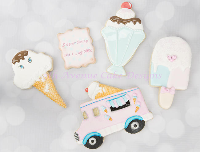Retro Ice Cream Cookies