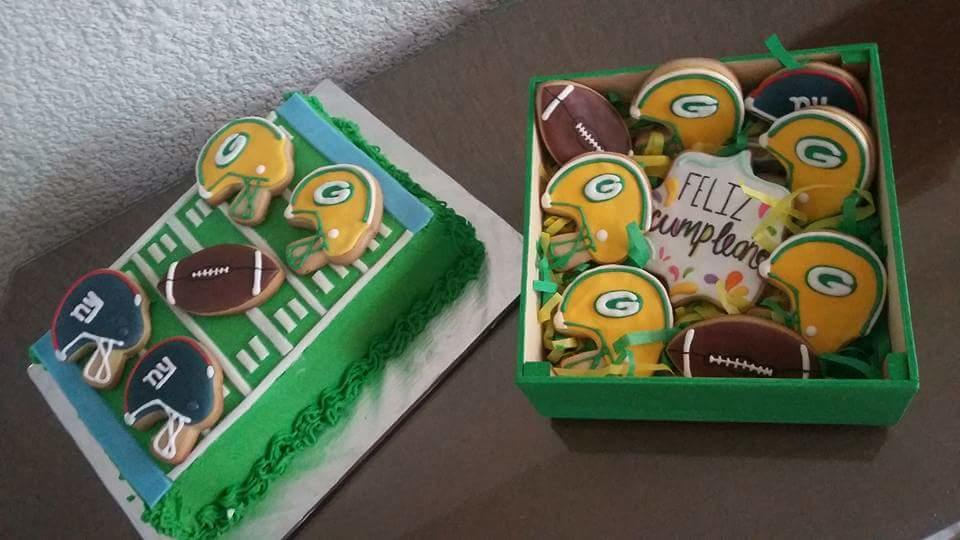 Green Bay Cookies and Cake!!!!