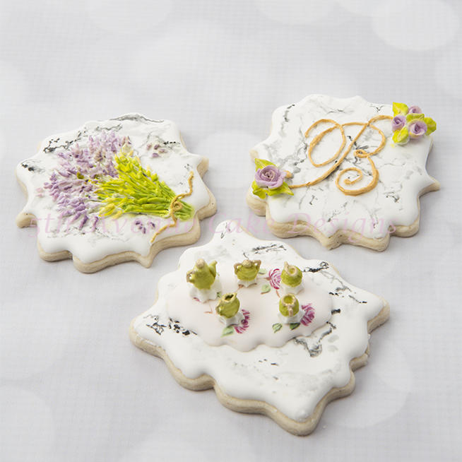 Dimensional Stone Marble Cookies