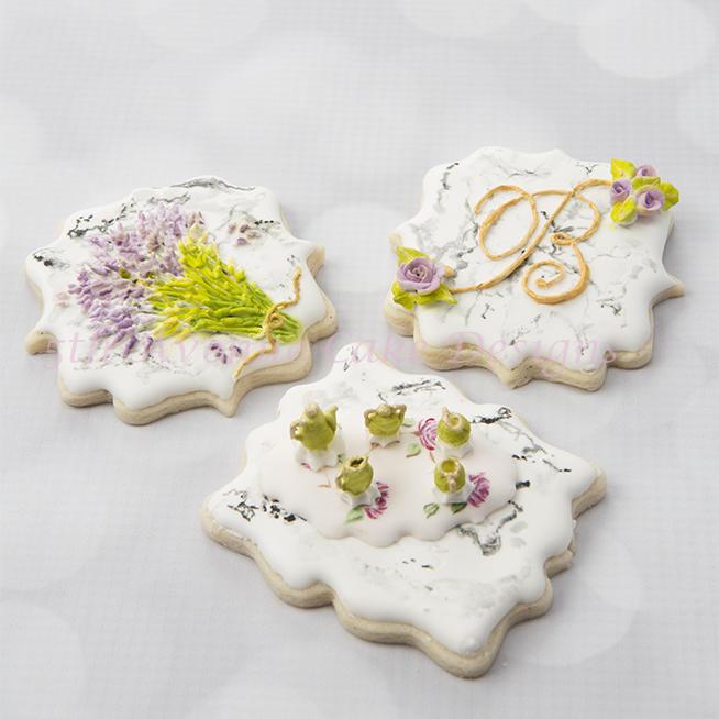 Dimensional Stone Marble Cookies