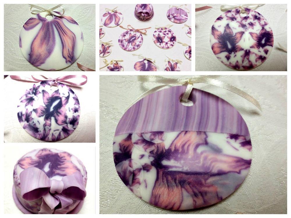 Lilac flowera cookies