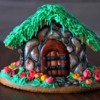 gingerbread house. Fairy forest