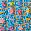 Ocean theme birthday cookies