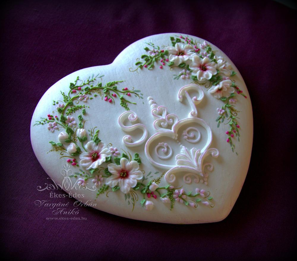 Ring Holder Gingerbread Heart