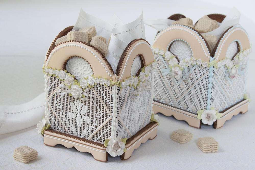 3-D Needlepoint Cookie Boxes
