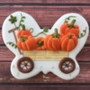 PBP #24- Pumpkin Wagon: Design and Cookie by Manu