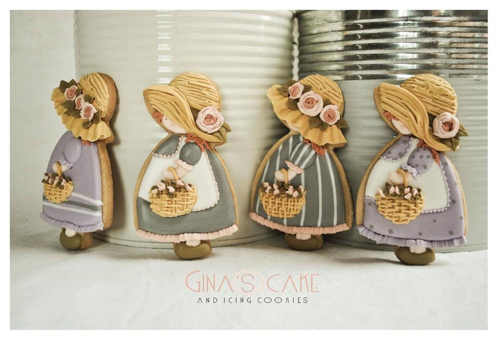 Sunbonnet cookie dolls: my new version