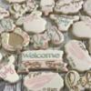 Rustic girlie baby shower cookies