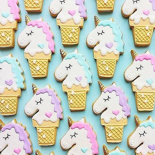 Unicorn Ice Cream Cookies