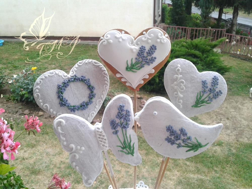 Lavender cookies on stick by TMJcreative